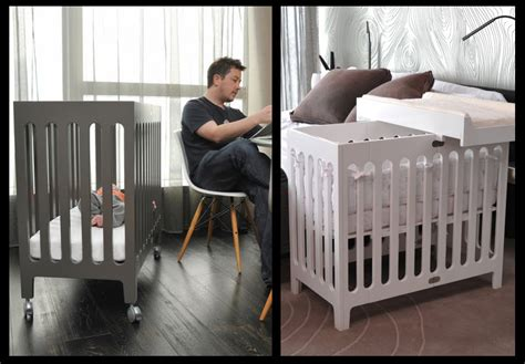 mini cribs for small spaces living chic in small family spaces parentmap