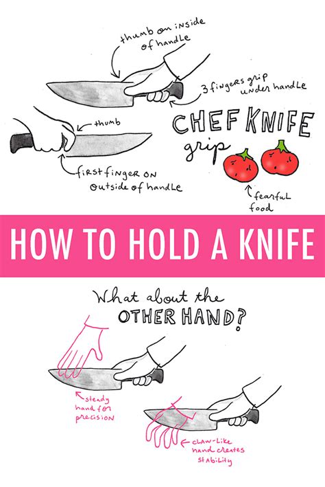 how to properly use how to hold a knife an illustrated guide on craftsy