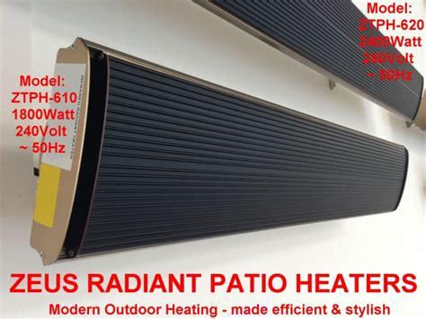 commercial electric patio heaters zeus radiant patio heaters efficient electric outdoor heating