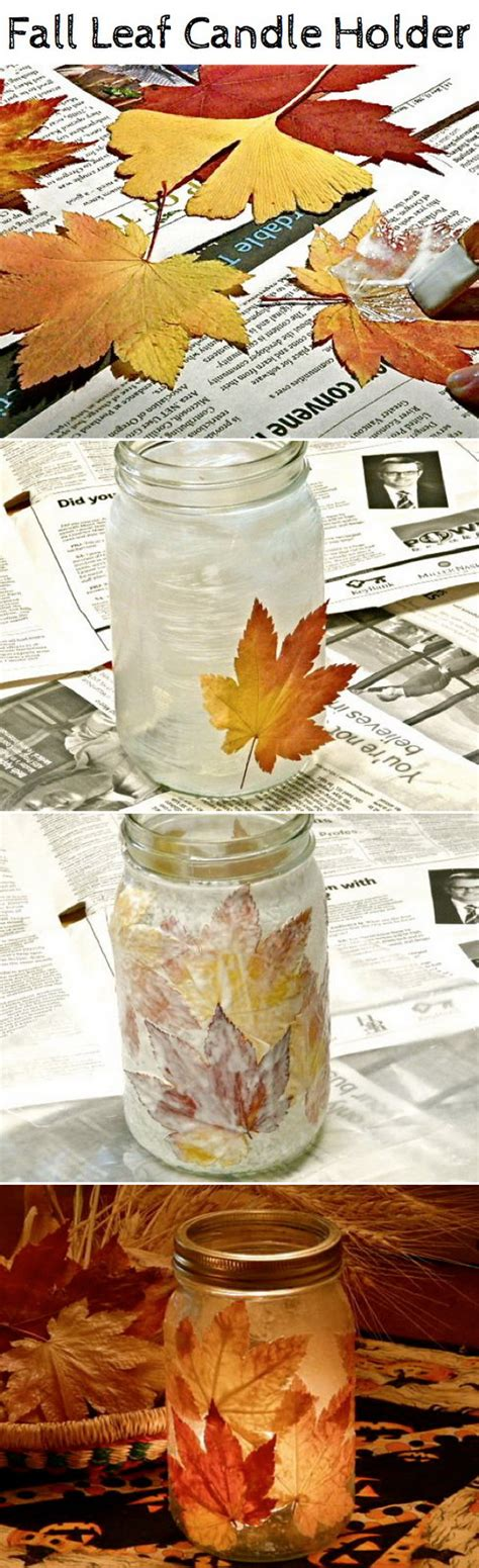 diy fall crafts for diy crafts with fall leaves hative