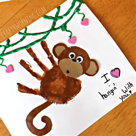 handprint craft for handprint monkey craft for crafty morning