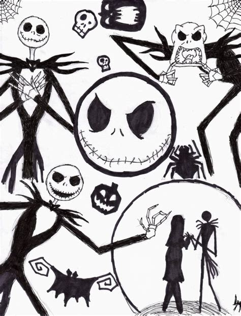 tim burton s the nightmare before coloring book for everybody nightmare before coloring pages nightmare