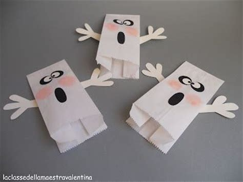 Paper Bag Ghost Puppets Paper Bag Crafts