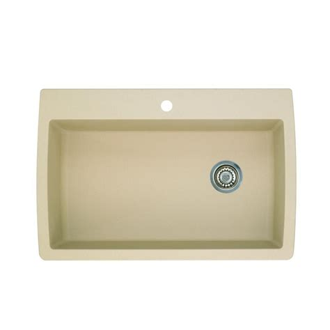 kitchen sinks blanco blanco dual mount composite 33 in 1