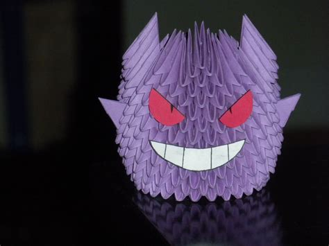 origami mew origami gengar by paporigami on deviantart