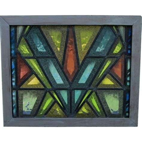 cool glass cool mid century modern stained glass window from