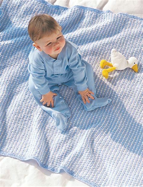 bernat baby knitting patterns favorite blue white blanket in bernat softee baby solids