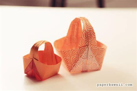 how to make a origami easter basket origami easter basket tutorial paper kawaii