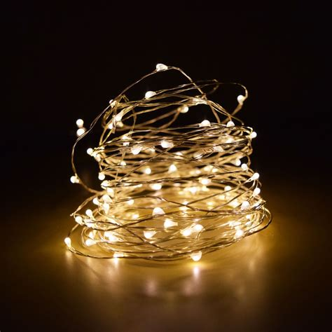 white string led lights 100 warm white led micro string light waterproof