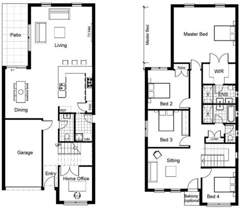 two storey house design and floor plan 25 best ideas about narrow house plans on