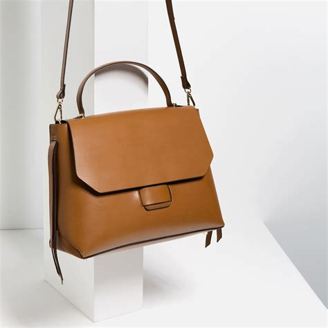 bag with zara minimal city bag in brown lyst