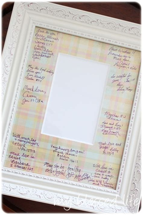 picture frame guest book ideas baby shower vintage pink lemonade theme