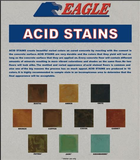 home depot paint stain colors eagle acid stain for concrete color charts available from
