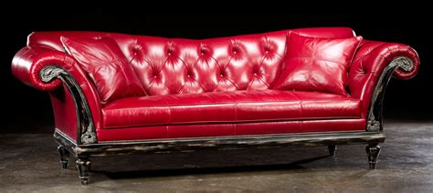 Living Room Ideas With Chesterfield Sofa by Small Red Leather Sofa Bed Decorate With Red Leather