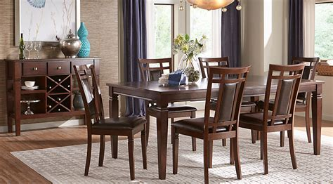 how to set dining room table riverdale cherry 5 pc rectangle dining room dining room