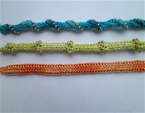 how do you knit an i cord ravelry beaded i cord bracelets pattern by margaret brennan