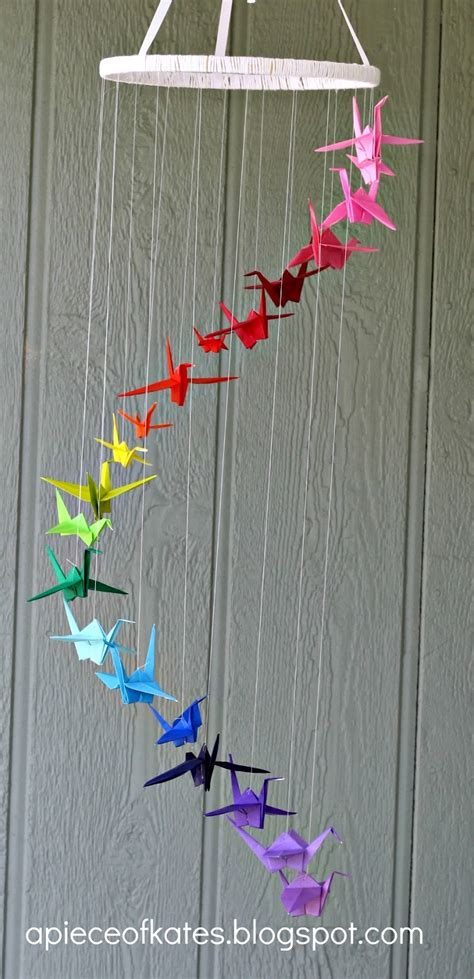 origami mobile origami crane rainbow mobile sugar bee crafts
