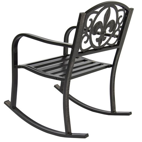 patio rocking chairs metal patio metal rocking chair porch seat deck outdoor backyard