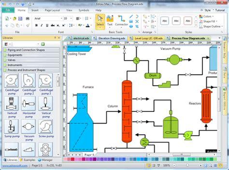 best program to draw process flow diagram draw process flow by starting with