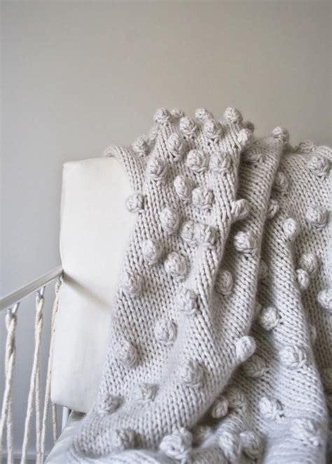 knitting bobbles falling bobbles blanket purl soho