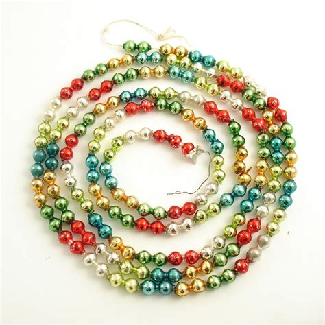 bead garland vintage glass bead garland mult color