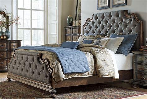 weathered oak bedroom furniture tuscan valley weathered oak upholstered panel bedroom set
