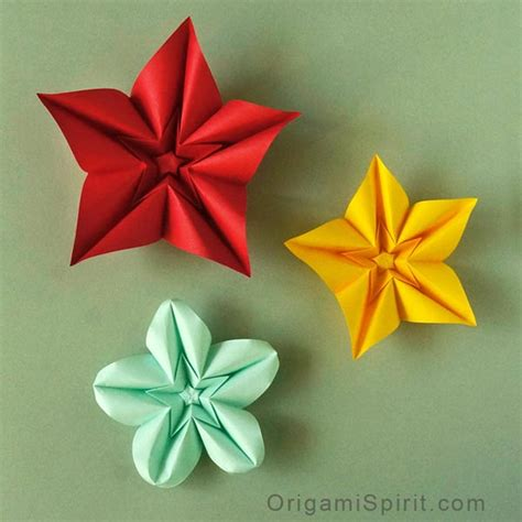 flower origami how to make an origami flower and variations