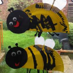 paper plate bumble bee craft paper plate bumble bees april may