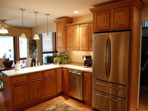 remodeling small kitchen ideas oak wooden kitchen cabinet for small kitchen remodeling