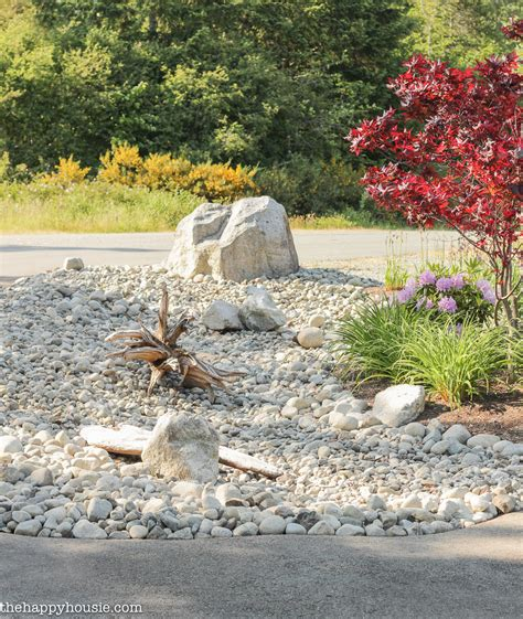 garden bed rocks landscaping with river rock river rock garden ideas