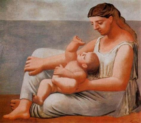 Pablo Picasso And Child By The Sea 1921