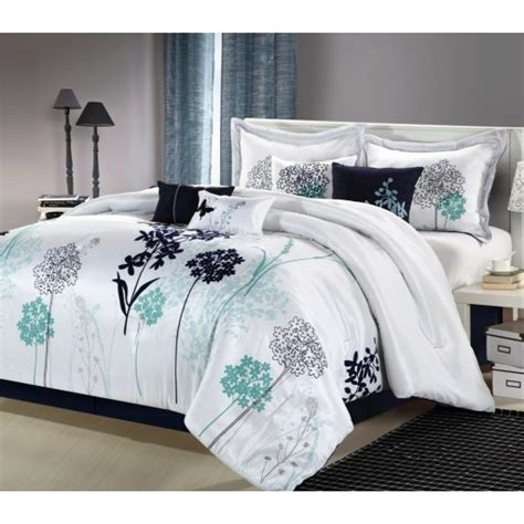 black white and blue comforter sets 8pc luxury bedding set white navy teal bedding