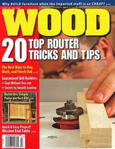 woodworking at home magazine wood issue 184 july 2008 woodworking plan from wood magazine