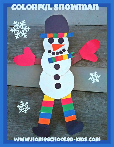 snowman craft for printable snowman crafts for