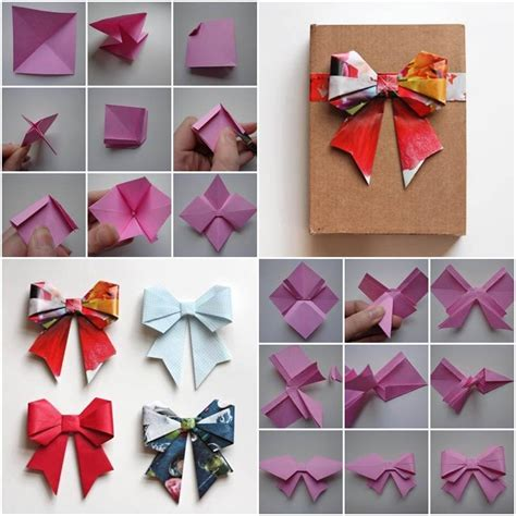how to make a origami ribbon how to make beautiful paper kirigami bow