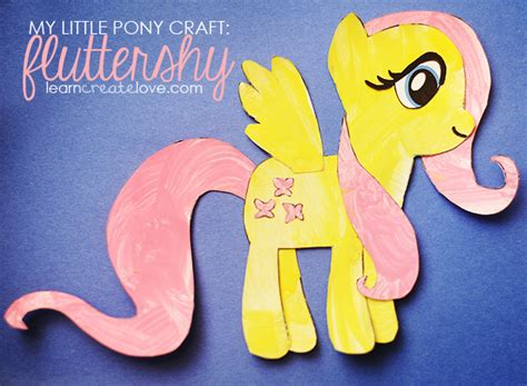 crafts with pony my pony craft fluttershy