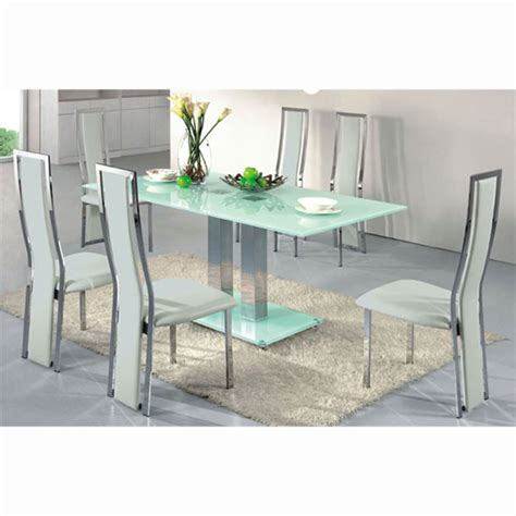 glass dining table sets 6 chairs glass dining table and 6 chairs furniture in fashion