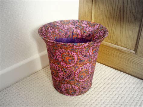 fabric decoupage fabric decoupage mayfair plumes waste bin sewing
