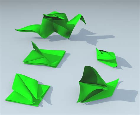 origami objects origami objects 3d model sharecg