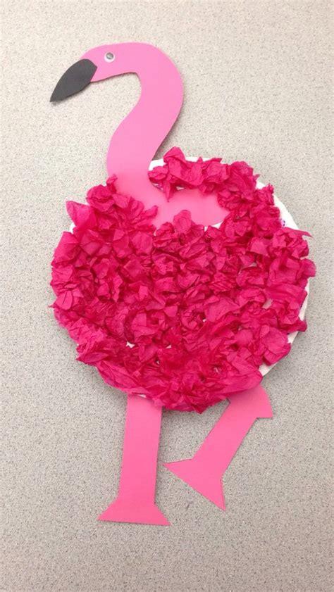 tissue paper crafts for preschoolers preschool flamingo craft flamingo craft paper plate