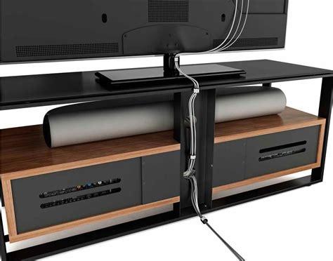 Speaker Wall Mounts bdi sonda black and walnut tv stand