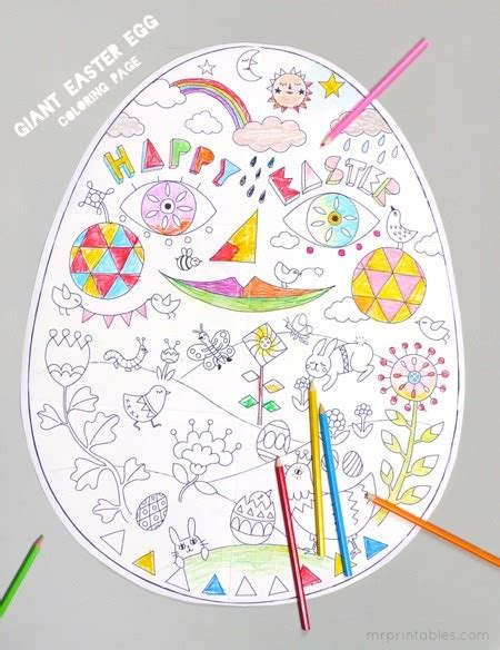 printable easter crafts for easter egg printable easter coloring page