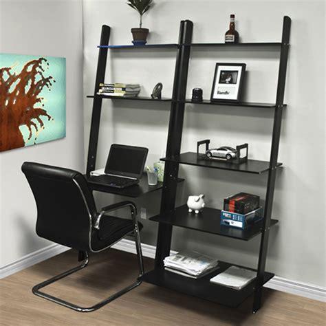 leaning bookshelf desk leaning shelf bookcase with computer desk office furniture home desk wood ebay