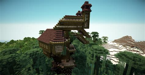 minecraft treehouse minecraft project