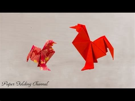 origami hen how to make a origami chicken rooster funnycat tv