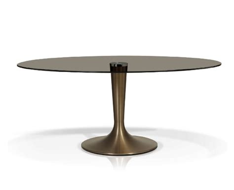 oval glass top dining table dining accent tables dining tables kr 001 smoked