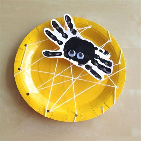 paper plate spider craft handprint spider paper plate spiderweb craft for