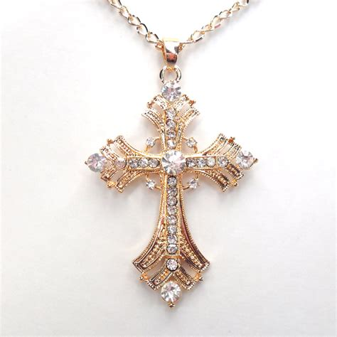 Free Shipping Crosses Jewelry For Gold Silver Plated