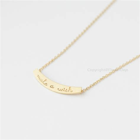 make a wish jewelry make a wish bar necklace in gold on luulla