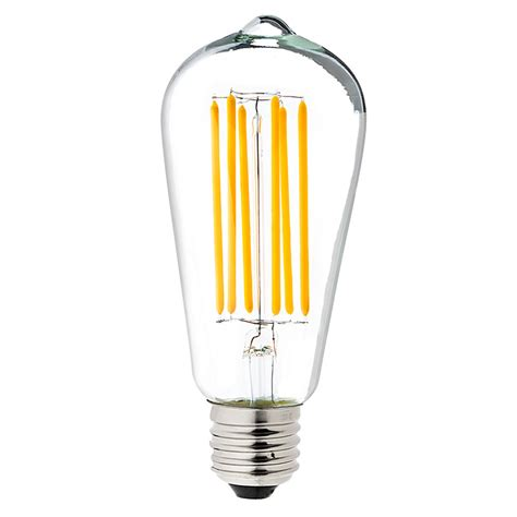 led vintage light bulbs st18 led filament bulb 55 watt equivalent vintage light
